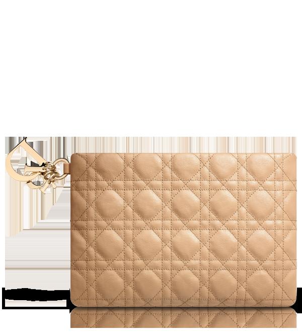 Dior Panarea米色涂层帆布皮夹
