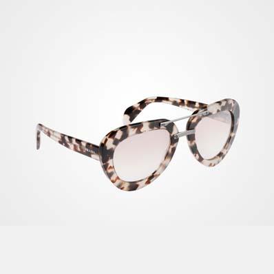 Raw 乳白色拼玳瑁色滑石粉醋酸纤维飞行员镜框太阳镜