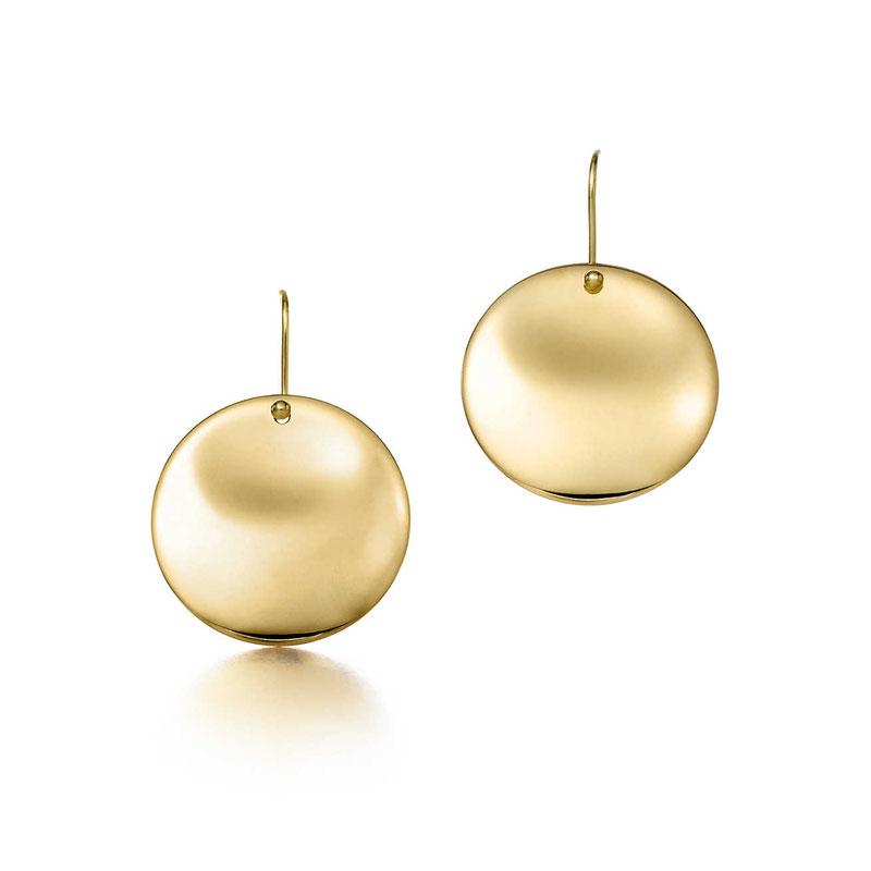 ROUND 18K金圆形耳环