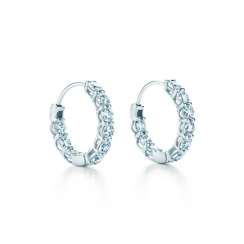 小号镶钻圈形耳环