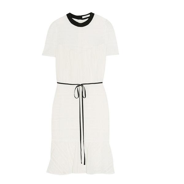 棉质混纺蕾丝连衣裙