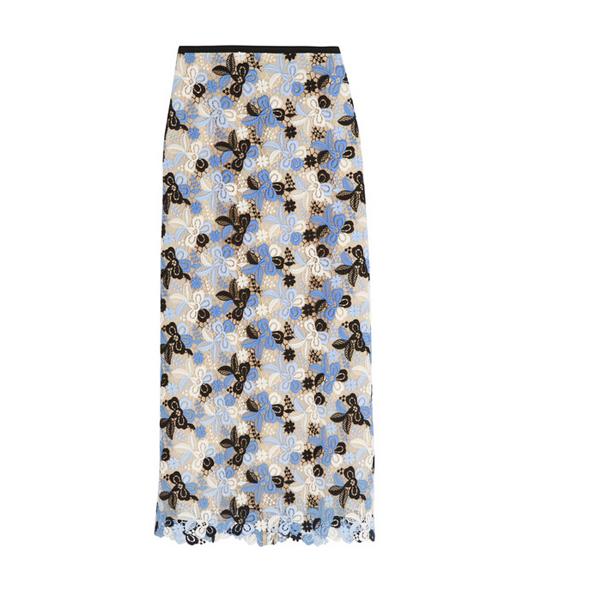凸花蕾丝半身裙