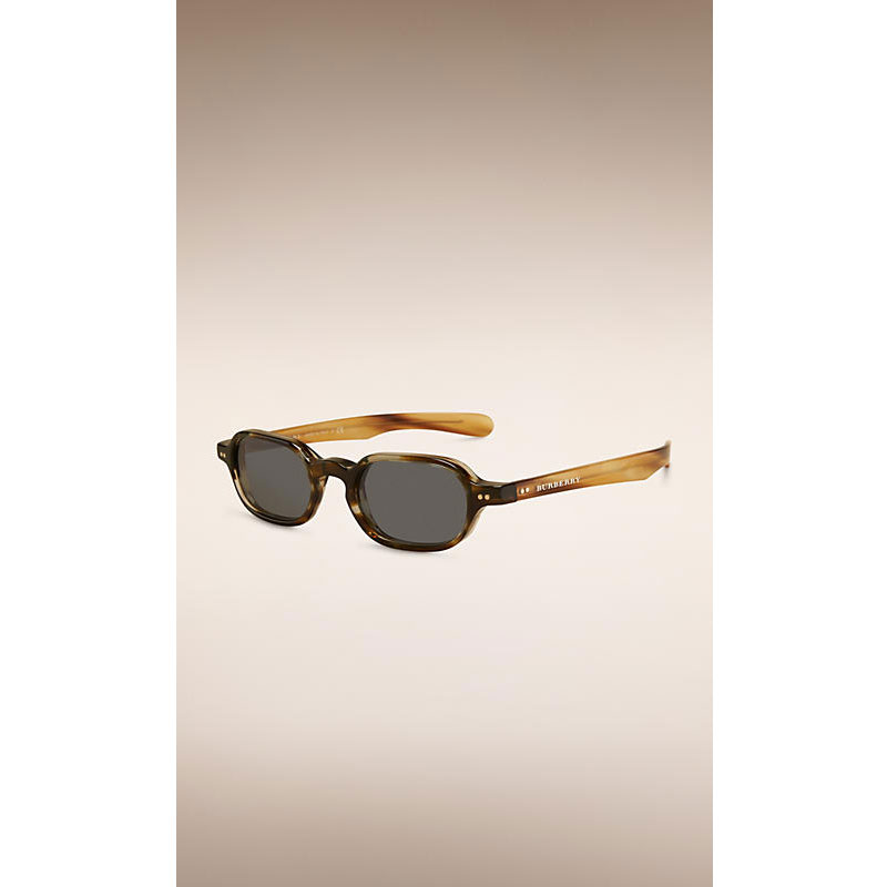 THE SCHOLAR 深棕牛角色英伦学院系列折叠式长方框太阳眼镜