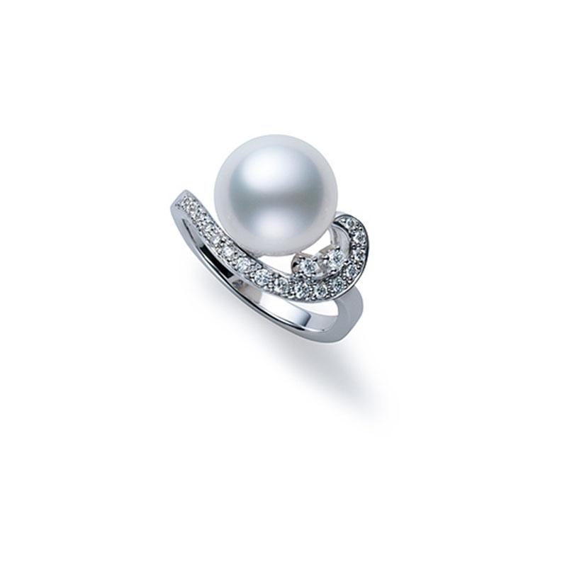 18K白金南洋珍珠戒指