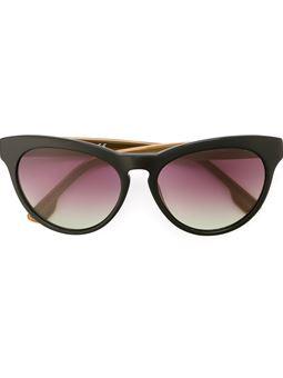 圆框渐色镜片太阳眼镜