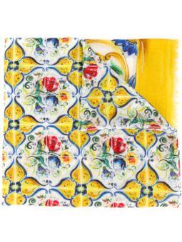 瓷砖印花围巾