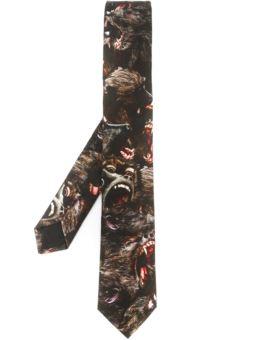 狒狒印花领带