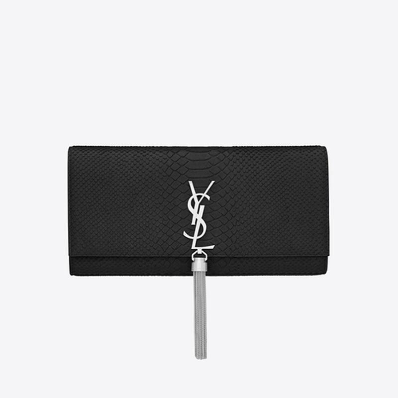黑色蛇纹手拿包