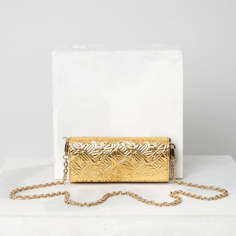 金色链条钱包
