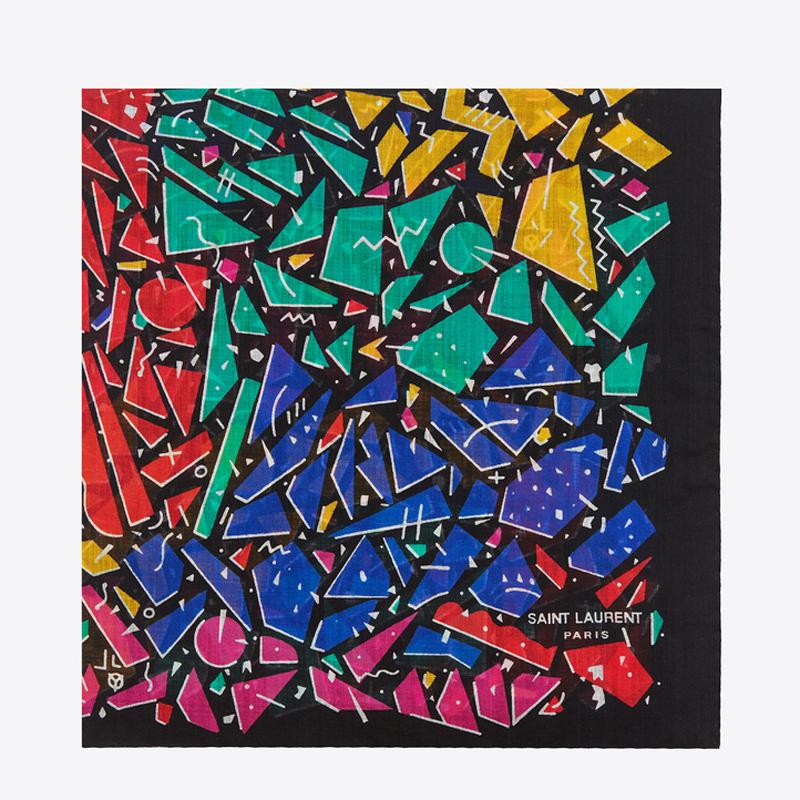 彩色几何图案围巾