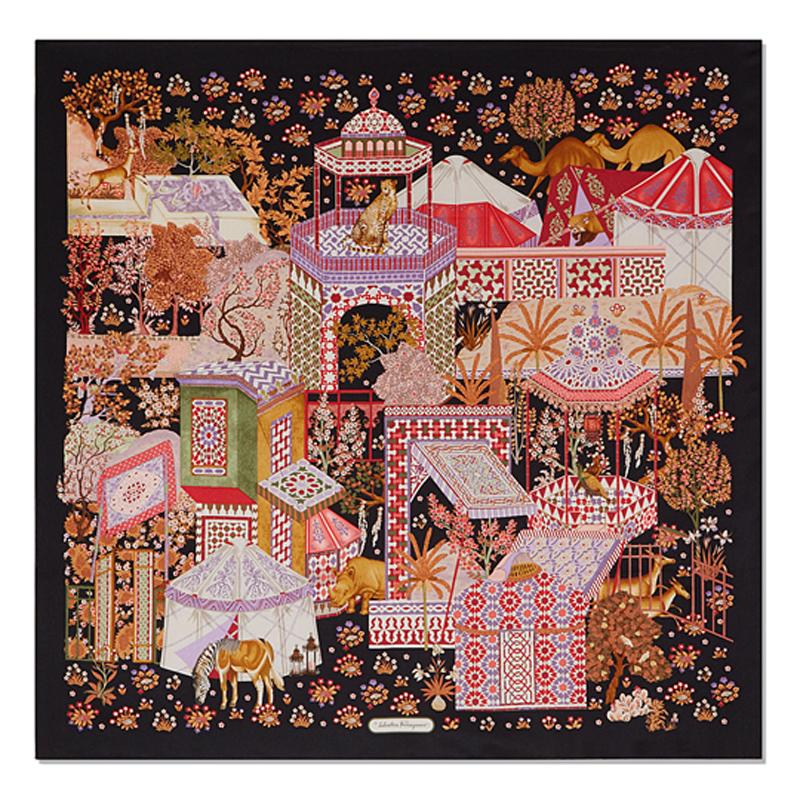摩洛哥印花风情围巾