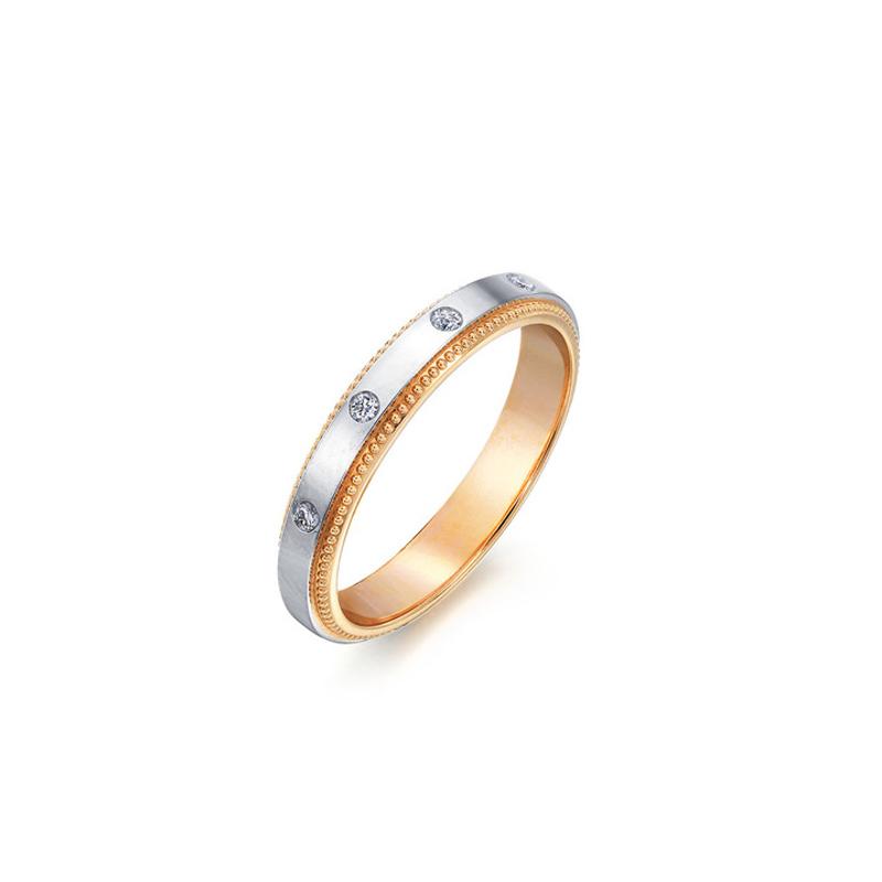 18K黄金及950铂金钻石戒指