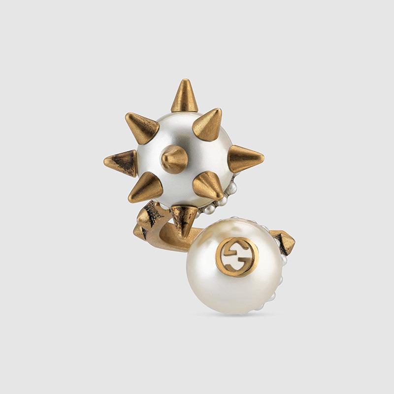 双玻璃珍珠戒指
